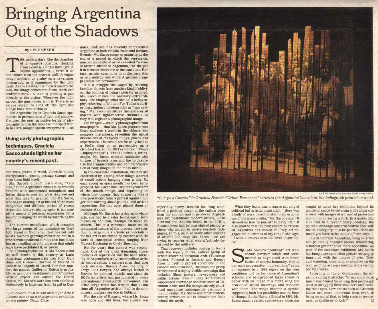 Bringing Argentina out of the shadows