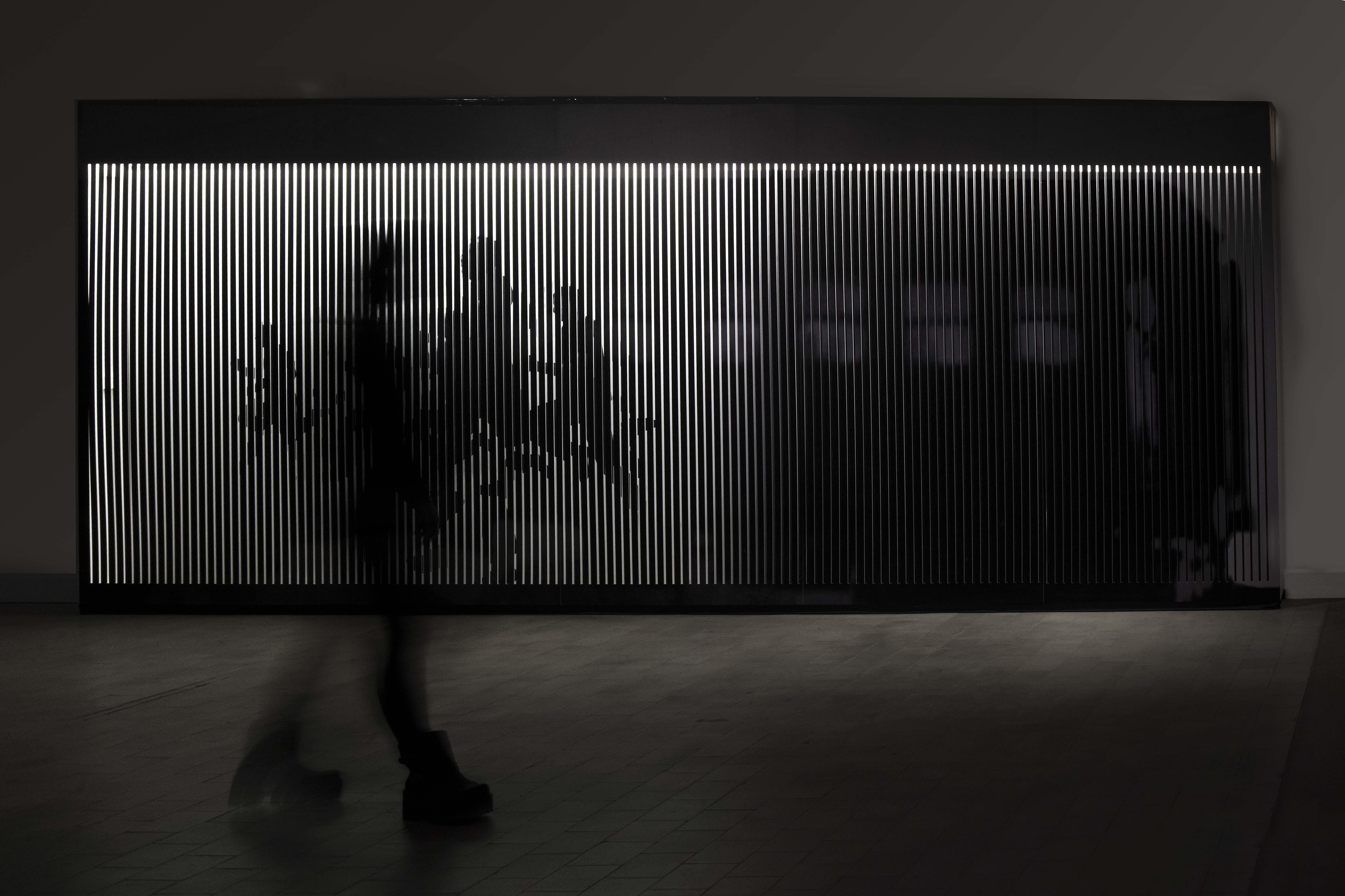 Graciela Sacco, Fueron al Norte para llegar al Sur, 2014, Instalación, Impresión digital sobre dos pantallas en paralelo, 250 x 650 cm